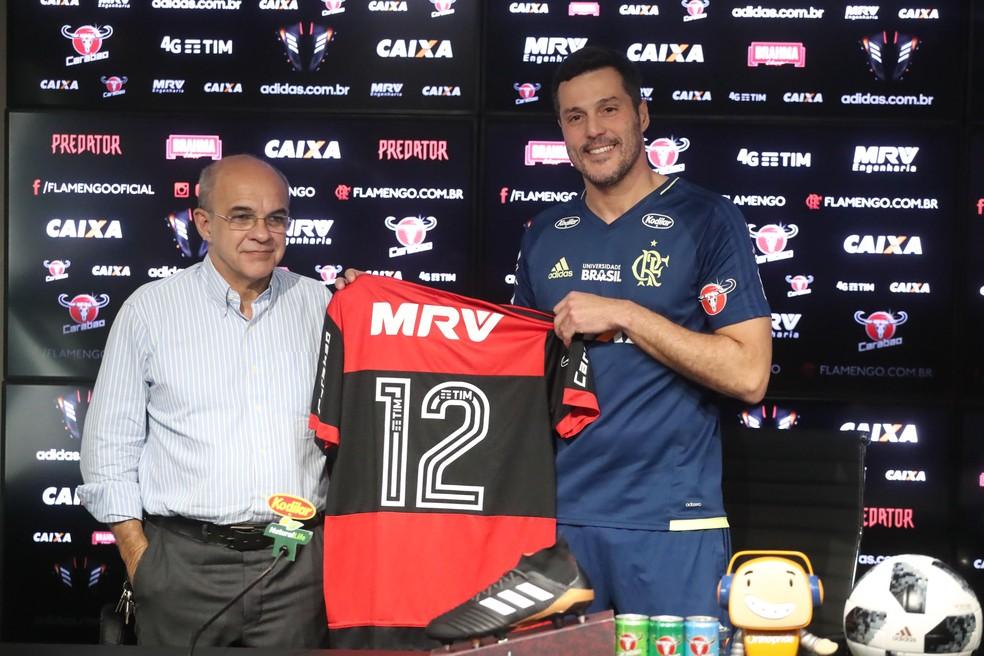 Julio César vestirá a camisa 12 no Flamengo (Foto: Gilvan de Souza/Flamengo)