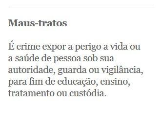crime de maus-tratos (Foto: crime)