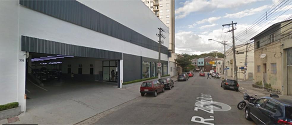 Fachada da concessionária onde empresário foi morto na Zona Norte de SP (Foto: Reprodução/ Google Maps)