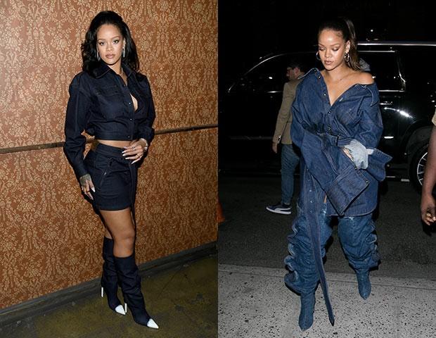 O look all jeans é um preferido da cantora (Foto: Getty Images)