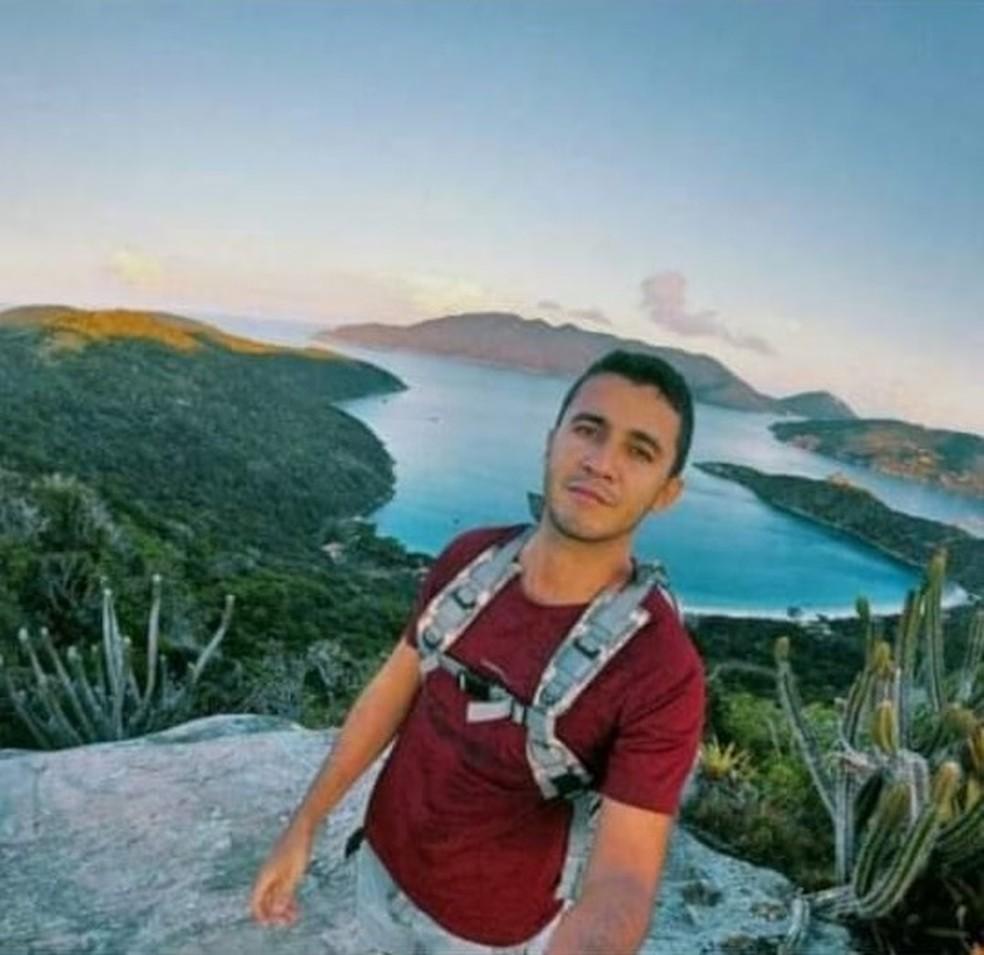 Cabo da Marinha desapareceu nas proximidades do Lago do Amor, em Arraial do Cabo — Foto: Victor Figueiredo/Arquivo pessoal