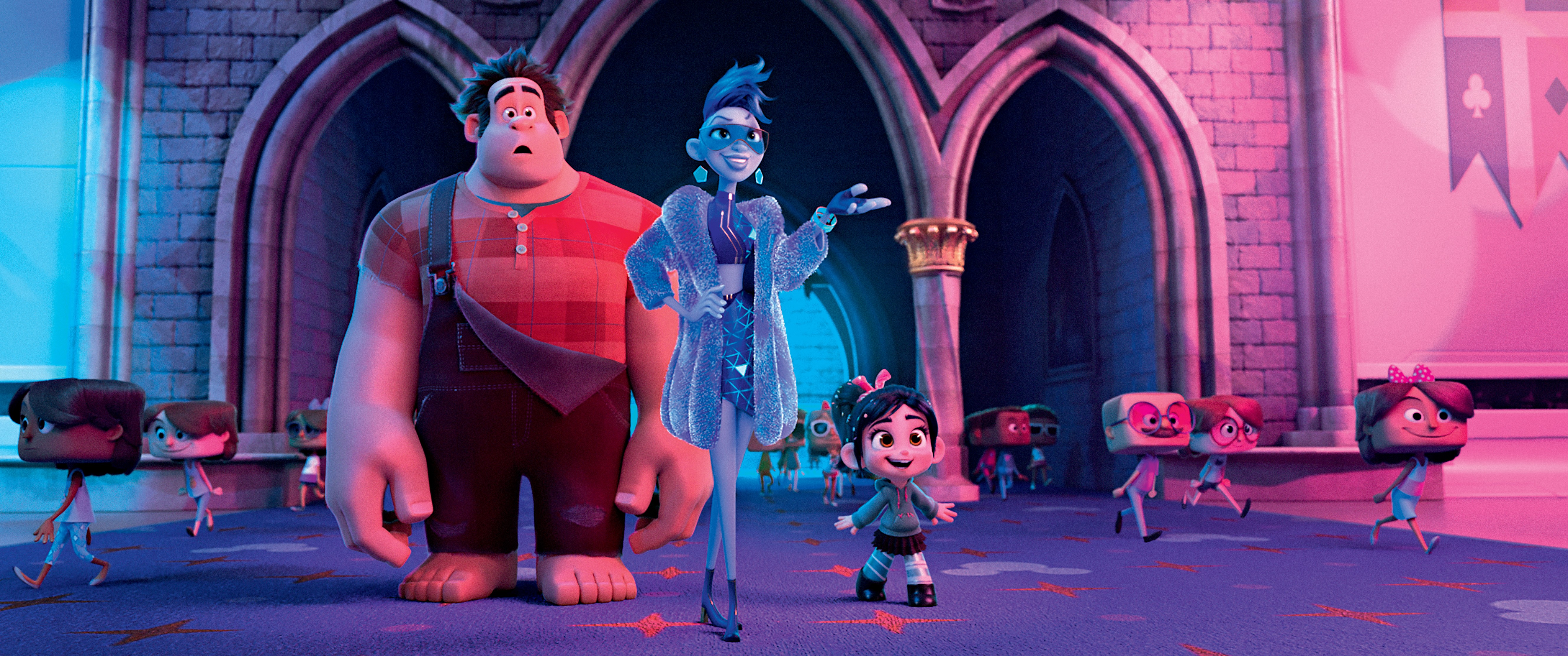 "YESSS – In ""Ralph Breaks the Internet: Wreck It Ralph 2,"" video game bad guy Ralph and his fellow misfit Vanellope von Schweetz venture into the expansive and thrilling world of the internet where an algorithm named Yesss—who constantly scours the net to  (Foto: Divulgação)"