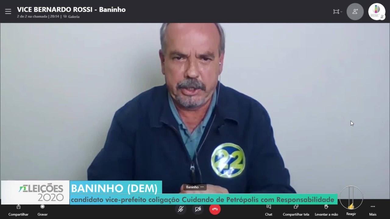 RJ1 entrevista candidato a vice-prefeito de Petrópolis
