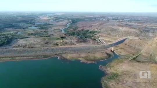 Já em volume morto, maior barragem do RN continua secando; veja imagens aéreas