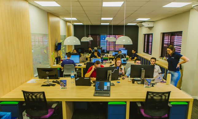 Escritório da CargOn, start-up de logística com sede em Curitiba