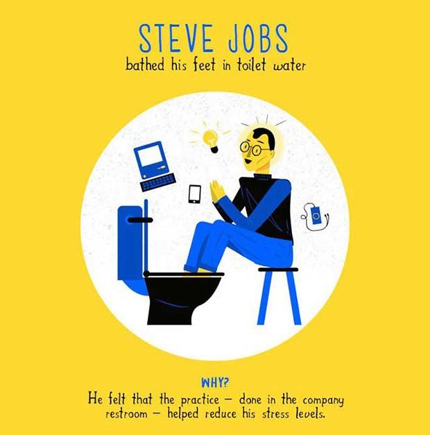 Infográfico - como 9 mentes criativas conseguiam suas ideias (Foto: Reprodução/ The Business Backer)