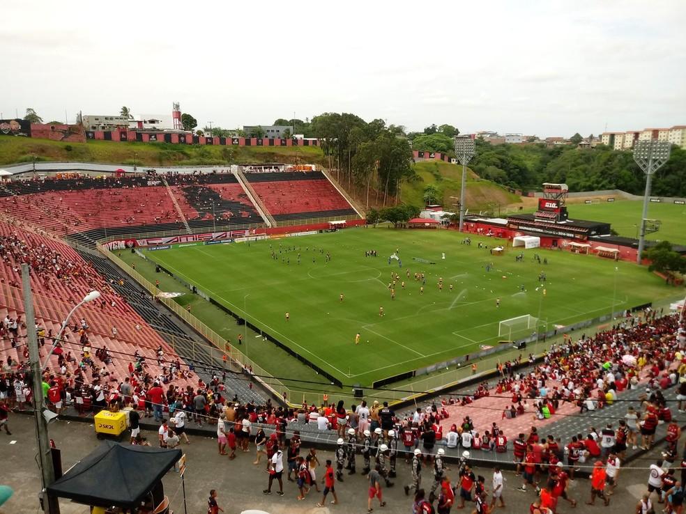 12b03e887f Vitória e Atlético-PR se enfrentam no Barradão no próximo sábado — Foto   Ruan
