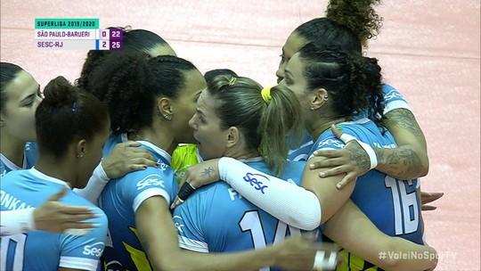 Na volta de Tandara, Sesc-Rio vence São Paulo-Barueri no duelo de campeões estaduais