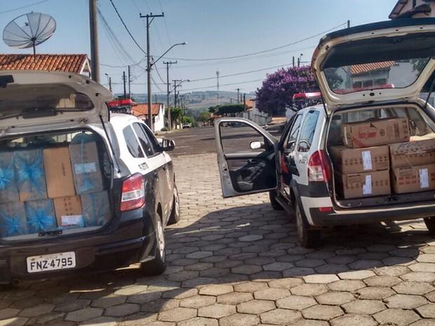 Flagrante aconteceu após um mês de investigação (Foto: Divulgação/ Polícia Civil Itaí)