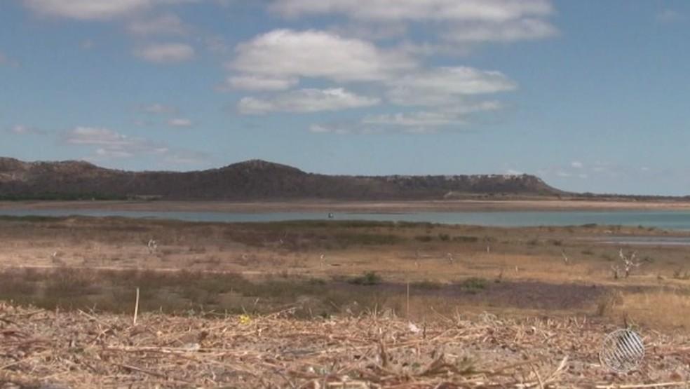 Lago de Sobradinho enfrenta seca severa (Foto: Reprodução/ TV São Francisco)