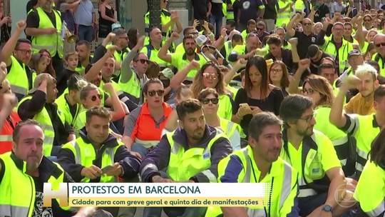 Greve geral para a cidade de Barcelona, na Espanha