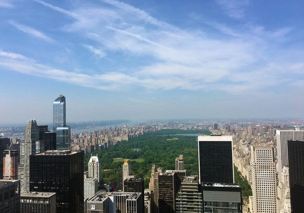 "Vista ""uau"" do Top of The Rock (Foto: Behind The Scenes NYC)"