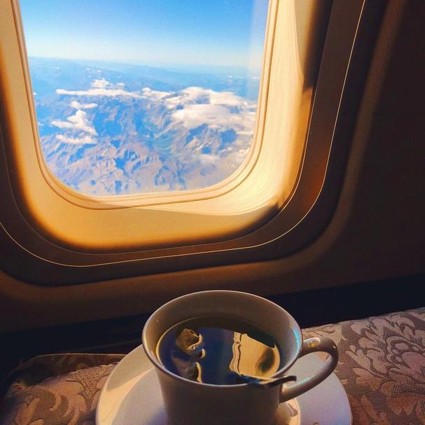 Viagem de avião (Foto: Instagram/Reprodução)