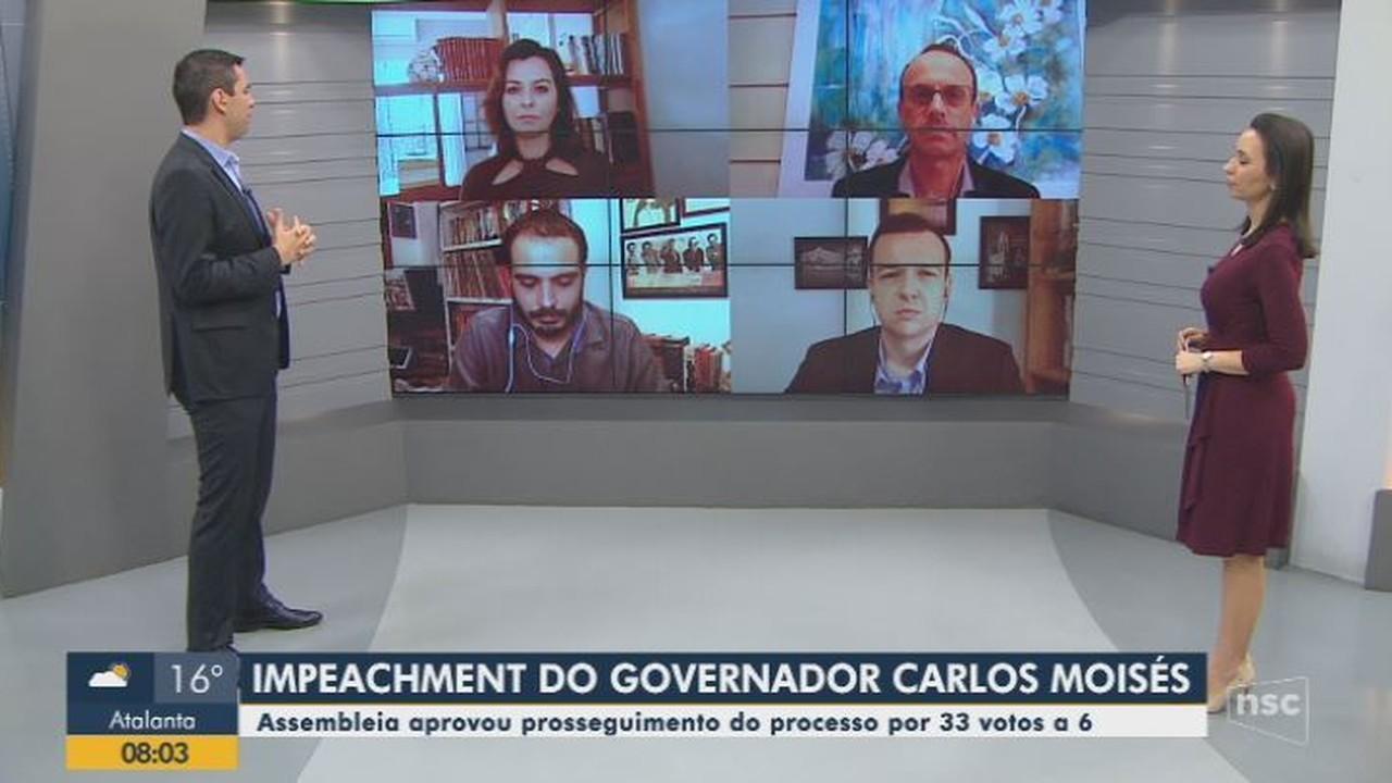Impeachment em SC: Ânderson Silva, Dagmara Spautz, Renato Igor e Upiara Boschi comentam
