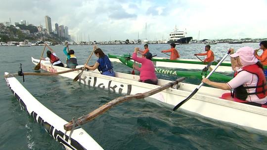 'Esportes de Verão' mostra como praticar a canoa havaiana