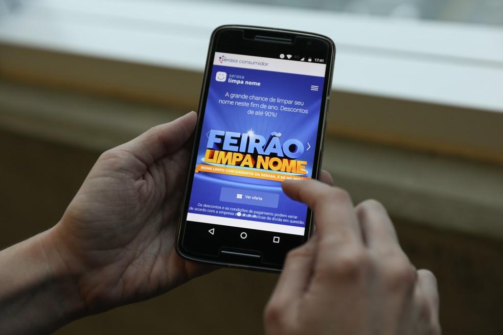 Feirão Limpa Nome da Serasa; empresa reúne dados financeiros de pessoas e tem cadastro de inadimplentes (Foto: Fabio Tito/G1)