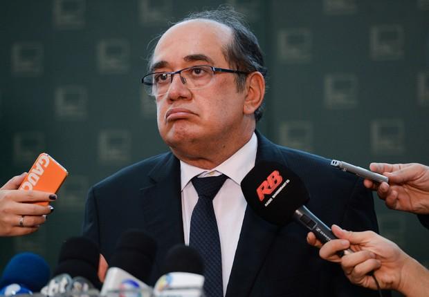 O ministro do Supremo Tribunal Federal (STF), Gilmar Mendes, comenta financiamento de campanha (Foto: Elza Fiúza/Agência Brasil)