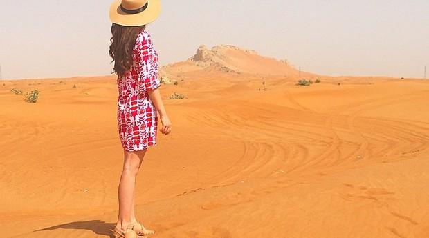 A australiana em Dubai, nos Emirados Árabes (Foto: Reprodução/Instagram)
