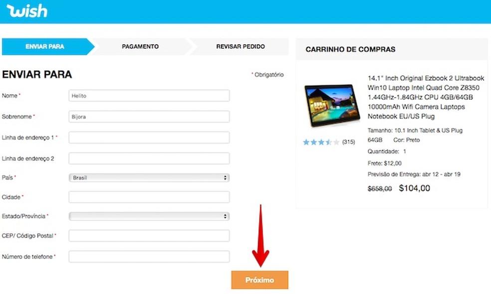42a80b1d1a227 TECNOLOGIA   ACESSIBILIDADE  Wish Brasil  como fazer compras no site ...