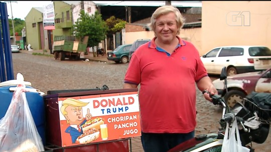 'Trump' paraguaio faz sucesso vendendo cachorro quente nas ruas