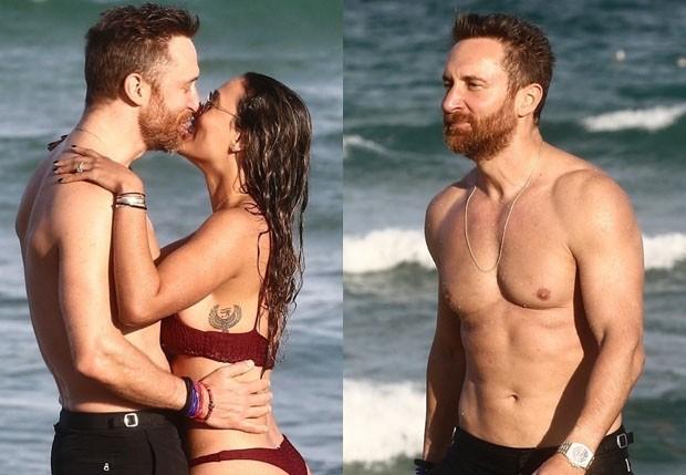 David Guetta e Jessica Ledon (Foto: BackGrid)
