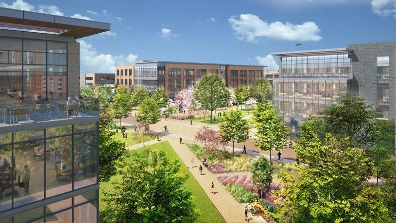 Novo campus corporativo do Walmart é inspirado na Universidade de Stanford (Foto: Divulgação/ Walmart)