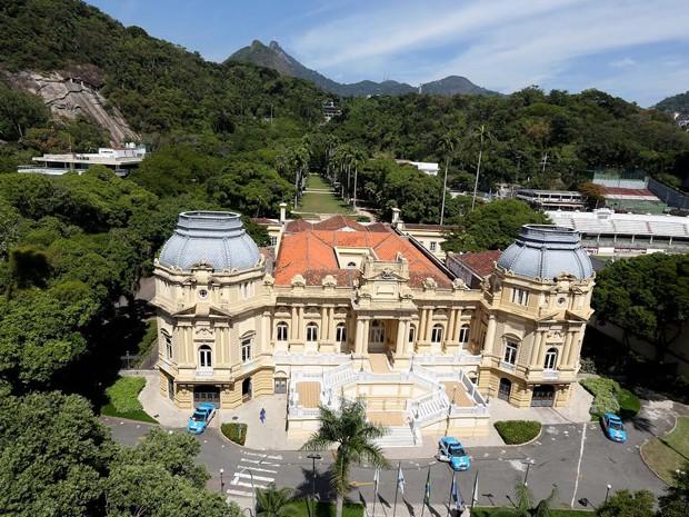 Imagem mostra Palácio Guanabara e os jardins (Foto: Divulgação/Palácio Guanabara )