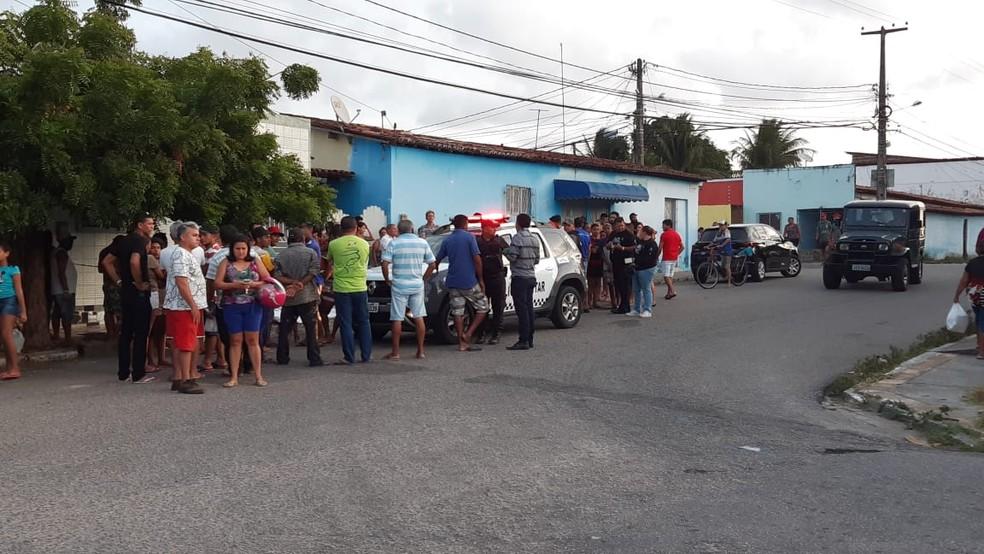 Crime aconteceu na Rua Alto da Bela Vista, no bairro Nordeste, Zona Oeste de Natal — Foto: Sérgio Henrique Santos/Inter TV Cabugi