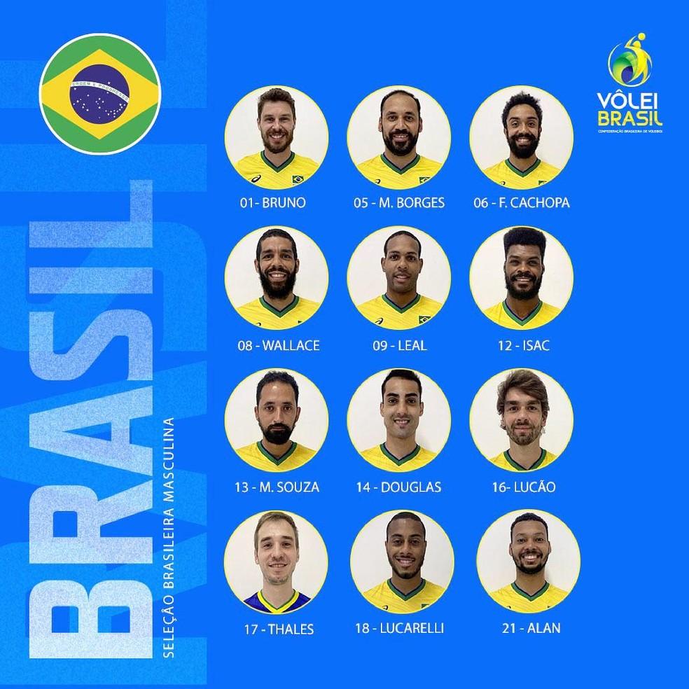 Seleção brasileira é convocada para Olimpíadas — Foto: Divulgação