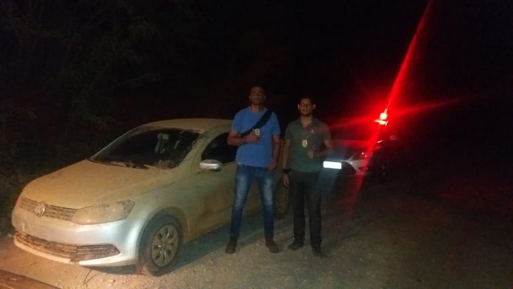 Polícia Civil recupera carro roubado de homem que saía de casa de shows em Verdelândia