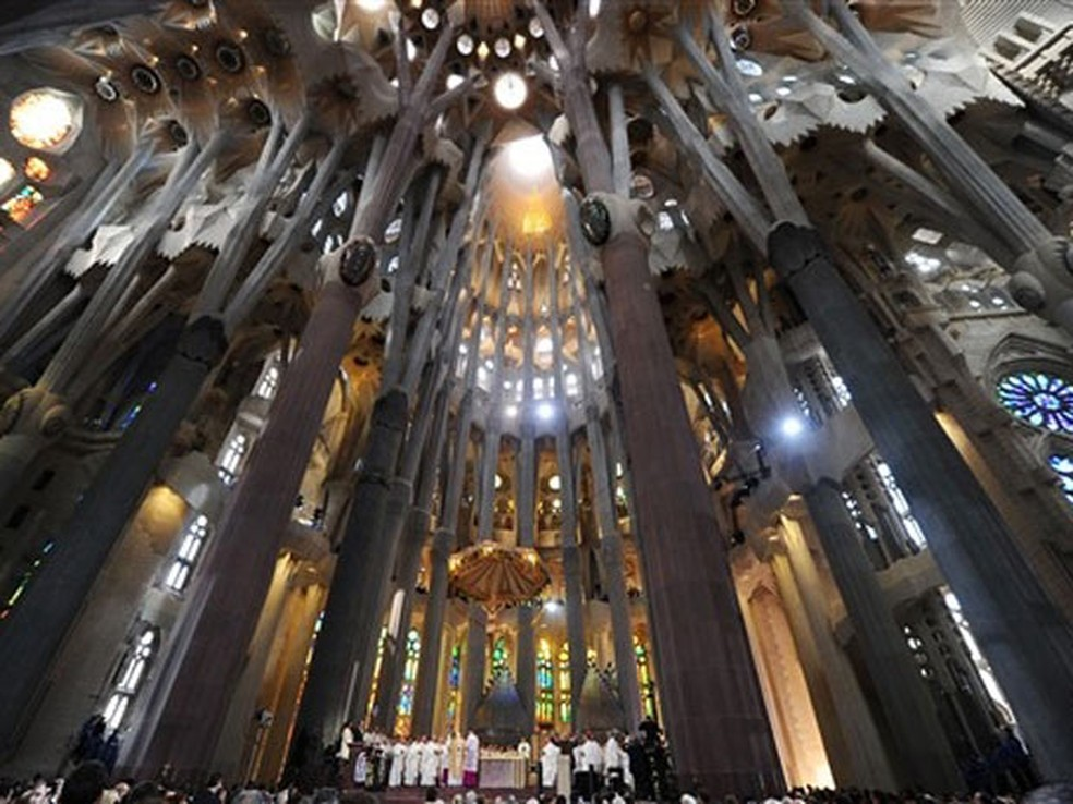 O Templo Expiatório da Sagrada Família de Barcelona (Foto: Christophe Simon / AFP)