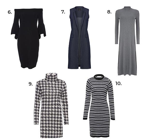 Opções de vestidos para o inverno (Foto: Divulgação)