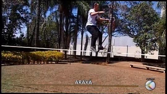 Atleta de Araxá se prepara para participar de competição de slackline no Japão