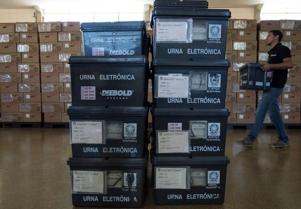 Urnas eletrônicas foram enviadas este ano a 125 países. Em 2014, 135 países receberam urnas (Foto: Arquivo/Agência Brasil)