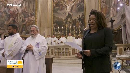 Margareth Menezes e Waldonys cantam na primeira missa após canonização de Irmã Dulce