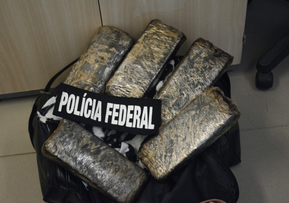 Tabletes de cocaína foram encontrados na mala de uma mulher, no Aeroporto Internacional do Recife — Foto: Polícia Federal/Divulgação