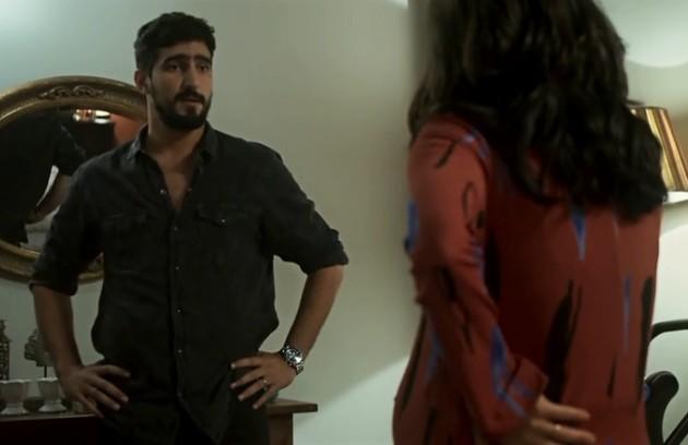 Na quinta (16), Jamil terá uma crise de ciúmes ao ver Laila com Bruno (Foto: Reprodução)