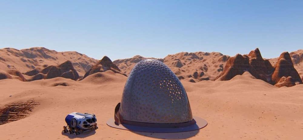 Projeto para a construção de casa marciana (Foto: Divulgação/NASA)
