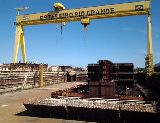 Estaleiro Rio Grande, no Rio Grande do Sul (Foto: Reprodução)