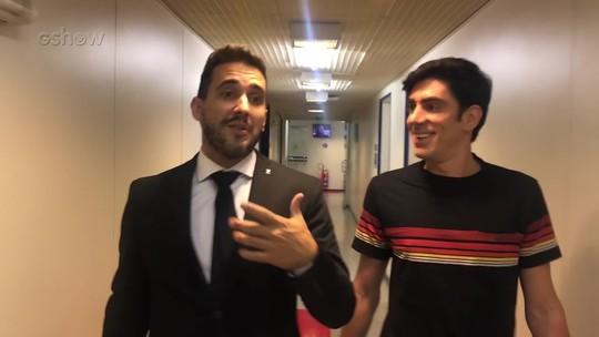 André Marques fala com Adnet nos bastidores do 'Adnight Show' e rasga elogios ao apresentador