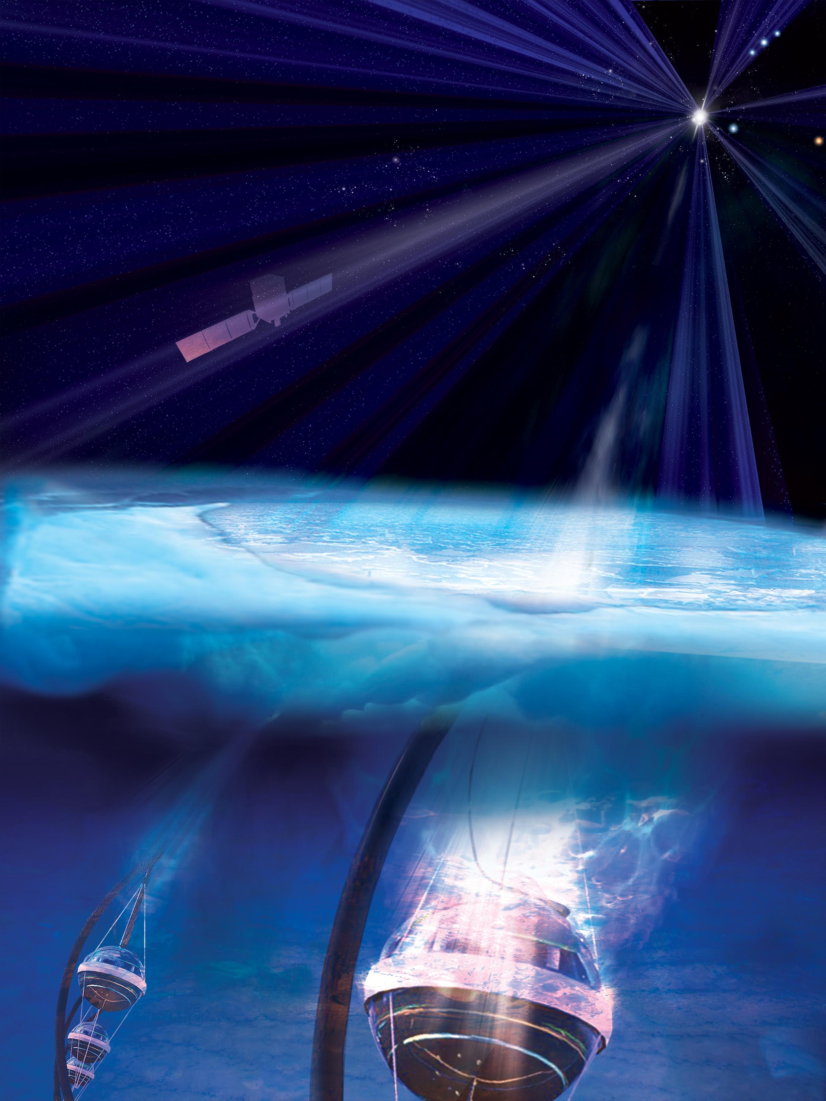 NASA identifica origem de neutrino vindo de fora da galáxia (Foto: NASA/Fermi and Aurore Simonnet, Sonoma State University)