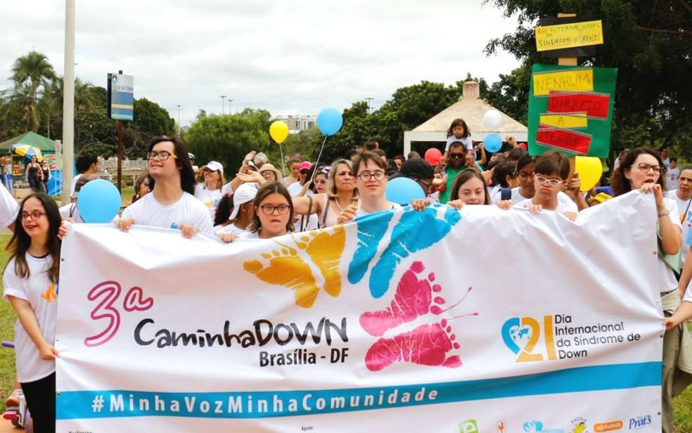 3ª CaminhaDown em Brasília, no Parque da Cidade (Foto: Gi Salles/Divulgação)