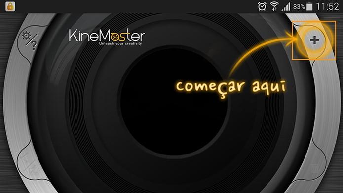 Inicie seu projeto no app Kinemaster para Android (Foto: Reprodução/Barbara Mannara)
