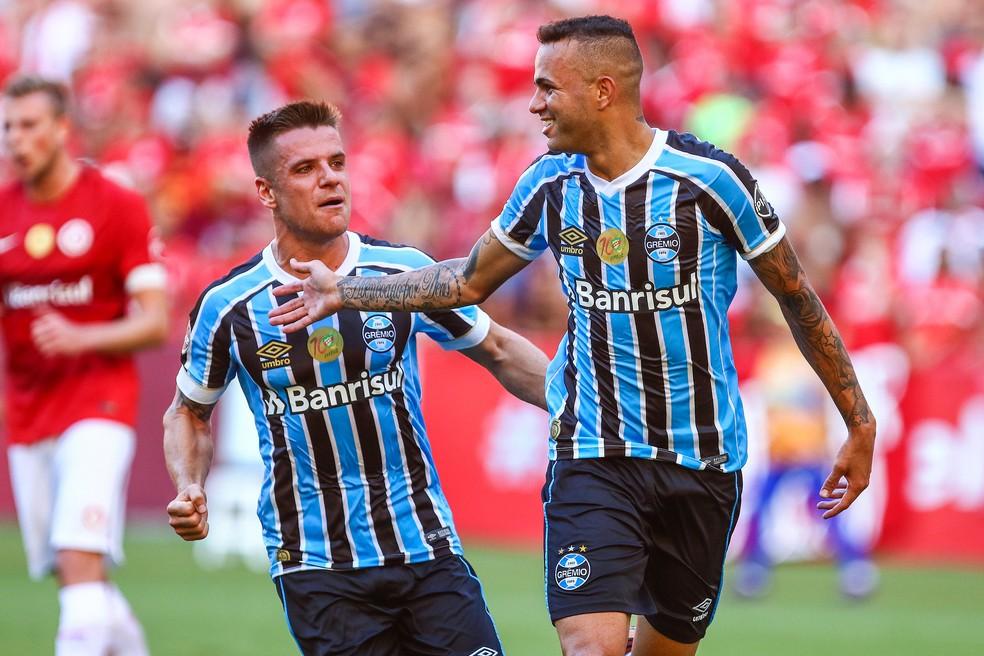 """Atuação do primeiro tempo no domingo é espelho para """"jogo"""" de 180 minutos (Foto: Lucas Uebel/Divulgação Grêmio)"""