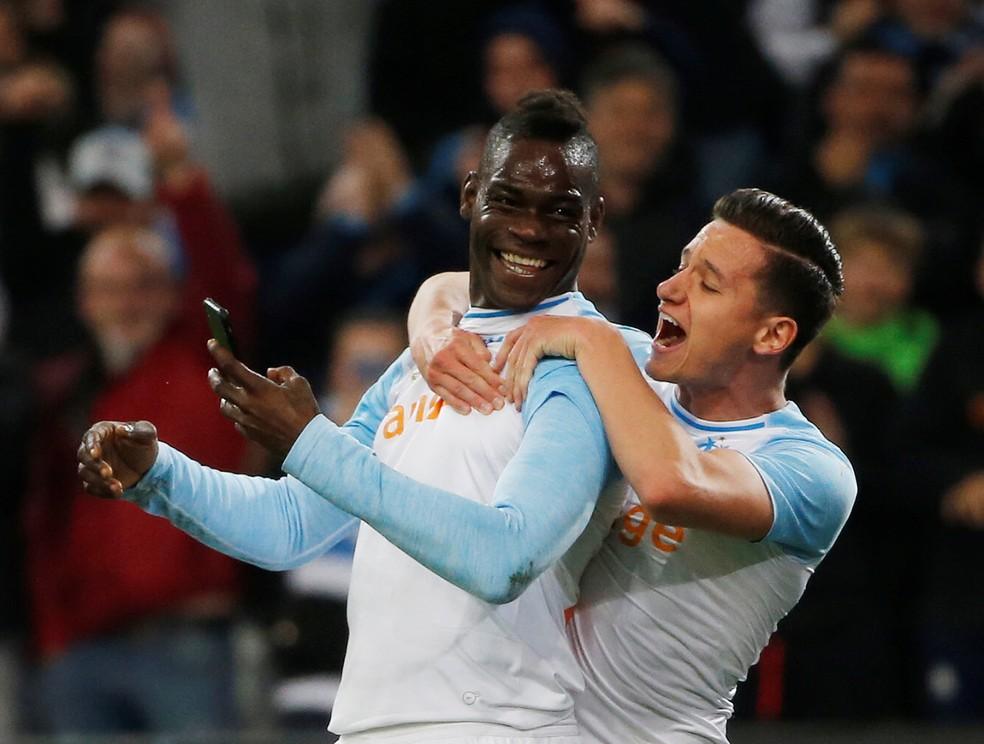 Balotelli fez oito gols em 15 pelo Olympique  Foto REUTERSJean-Paul Pelissier