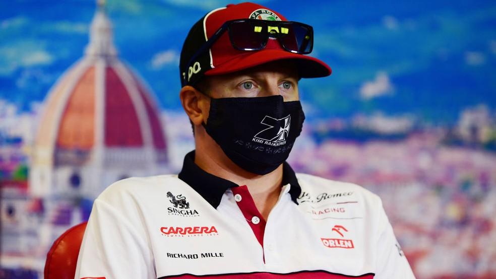 Kimi Raikkonen, da Alfa Romeo, no GP da Toscana — Foto: Mario Renzi/Formula 1 via Getty Images
