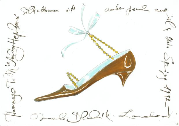 Croqui delicado e com cara de ilustração de Manolo Blahnik (Foto: Divulgação)