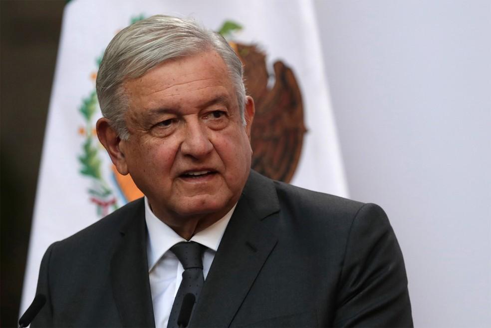 Andrés Manuel López Obrador, presidente do México, durante evento na Cidade do México em dezembro de 2020 — Foto: Henry Romero/Reuters