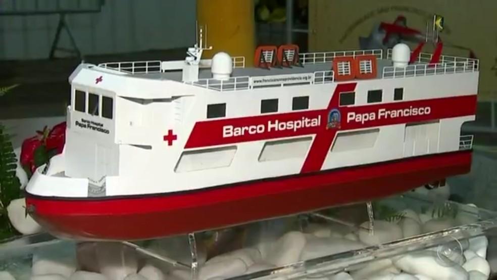 Projeto em Jaci transforma barco em hospital para atender ribeirinhos na Amazônia (Foto: Reprodução/TV Tem)