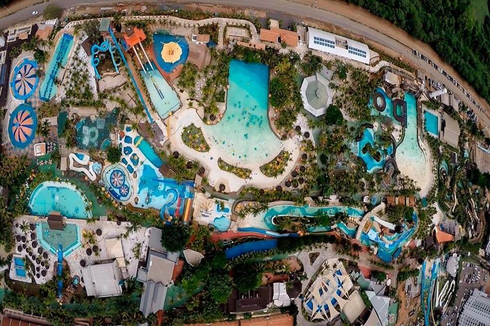 Parque Aquático Thermas dos Laranjais, em Olímpia, é considerado um dos maiores da América Latina — Foto: Divulgação